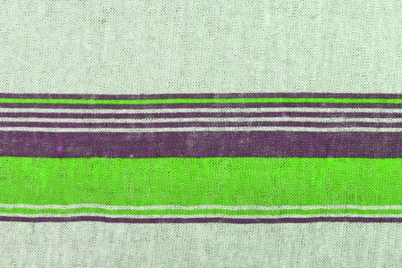 Linen knitwear texture with green print stripes