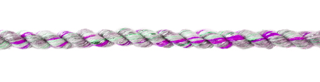 Fuchsia decorative braided curtain cord. Slice on white background