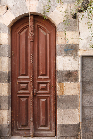 SYRIA, DAMASCUS, December 1,2008: Entrance door in Damascus, Syria
