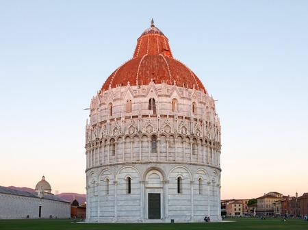 Battistero di San Giovanni, baptisterium in Pisa, Italy