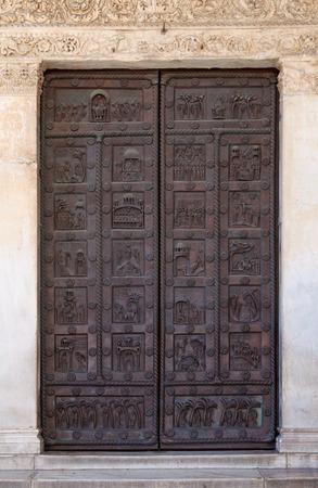 Portal of San Ranieri of Duomo di Santa Maria Assunta in Pisa, Italy