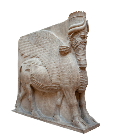 Lamassu. From Khorsabad, Iraq. Gypseous alabaster.