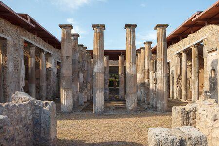 House of M. Epidius Rufus of Pompeii (Pompei). Ancient Roman city in Pompei, Province of Naples, Campania, Italy