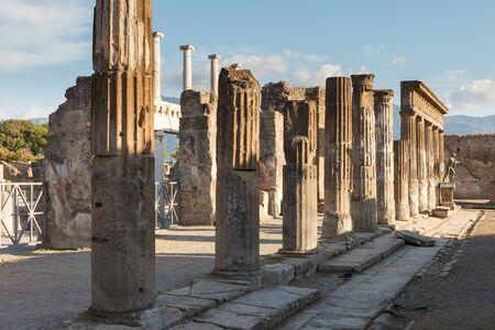 Forum of Pompeii (Pompei). Ancient Roman city in Pompei, Province of Naples, Campania, Italy
