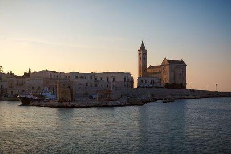 Trani Cathedral at evening (Cattedrale di San Nicola Pellegrino). Trani, Puglia (Apulia), Italy