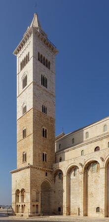 Bell tower of Trani Cathedral (Cattedrale di San Nicola Pellegrino). Trani, Puglia (Apulia), Italy