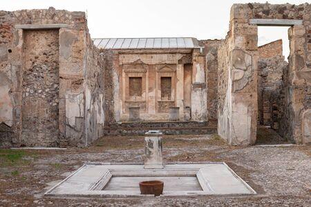 Villa of Pompeii (Pompei). Ancient Roman city in Pompei, Province of Naples, Campania, Italy