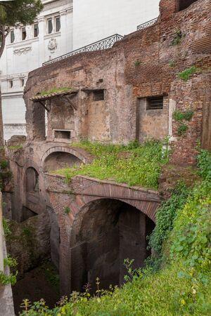 The Insula dell'Ara Coeli. Insula on Capitoline Hill. Rome, Italy Stock Photo