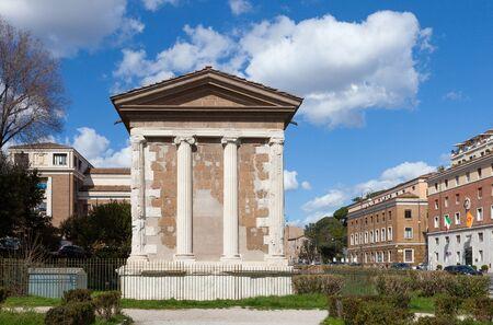 The Temple of Portunus (Tempio di Portuno) or Temple of Fortuna Virilis. Roman temple in Rome, Italy Archivio Fotografico