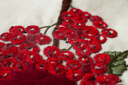 Couture embroidery of mountain ash.