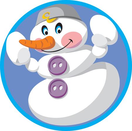 Vector. Snowman Vector