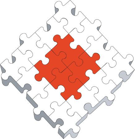 3d puzzle a colori 04 Vettoriali