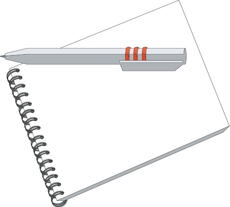 notes with pencil in color 01 Vector