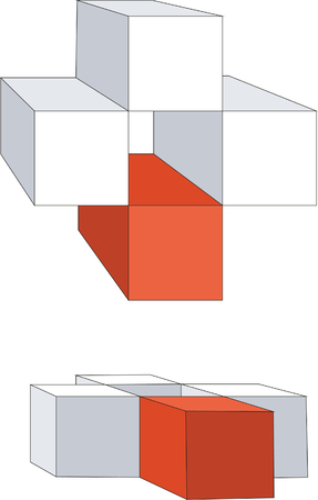 3d cubes in color 12 Vector