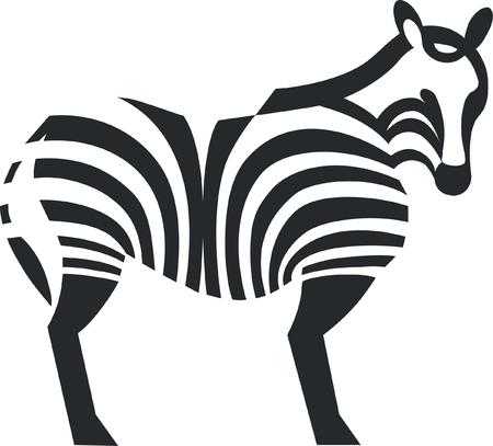 Zebra silhouette in black   Vector