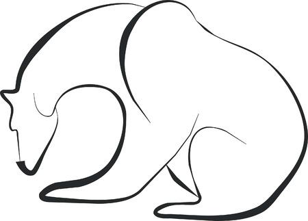 siluetas: bear silhouette
