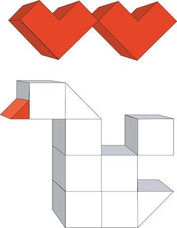 splice: 3d cubes Illustration
