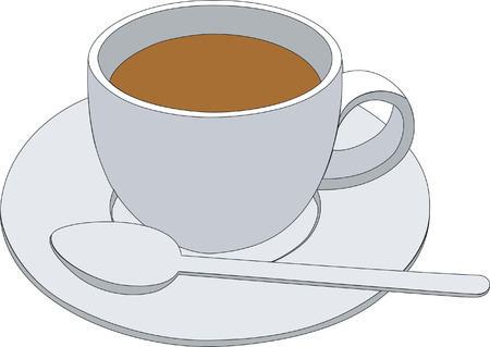 saucer: coffee cup Illustration