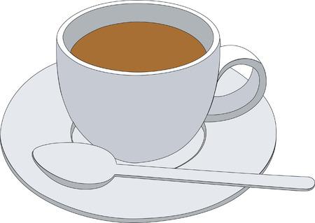 milk tea: coffee cup Illustration