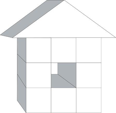 3d home Stock Vector - 5256909