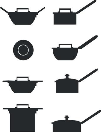 kitchen furniture: Pan set