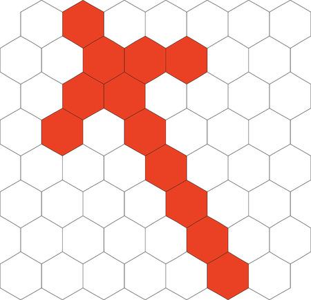 Hexagonal 3d pattern in black 02 Stock Vector - 5279226