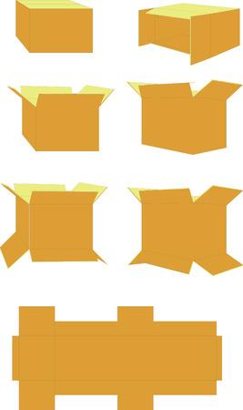 box in color set 01 Vector