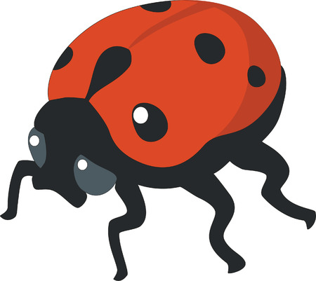 ladybird silhouette in  color 01 Vector