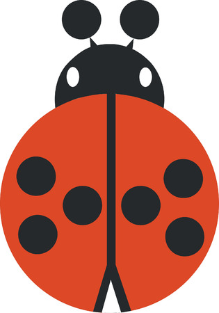 ladybird silhouette in  color 02 Vector