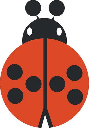butterfly ladybird: mariquita silueta en color 02