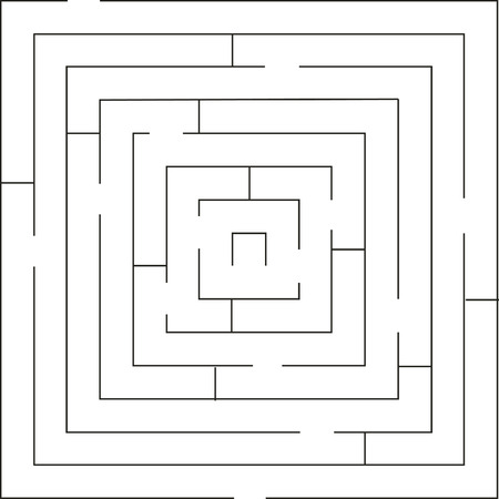Maze 01 in black color Illustration