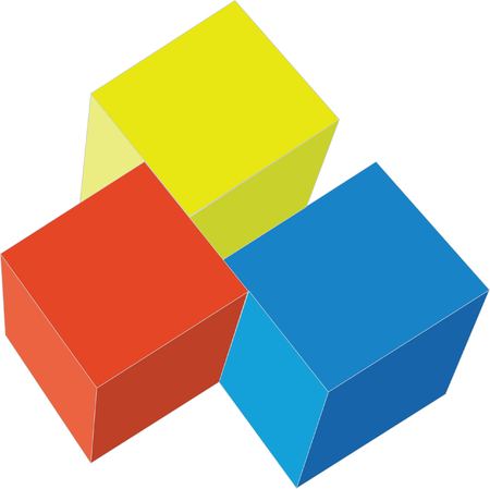 3d cubes in color 2 Stock Vector - 5292484