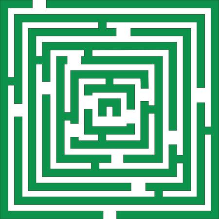 緑の色の迷路 01  イラスト・ベクター素材