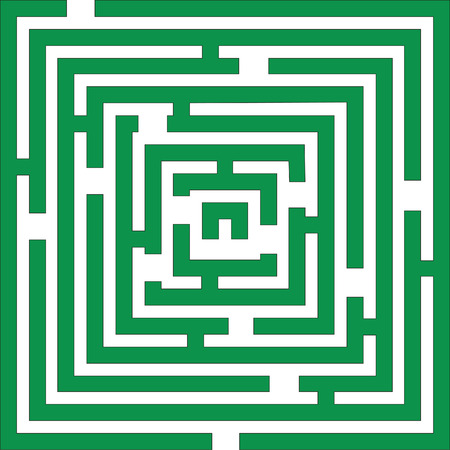 maze game: Maze 01 in green color