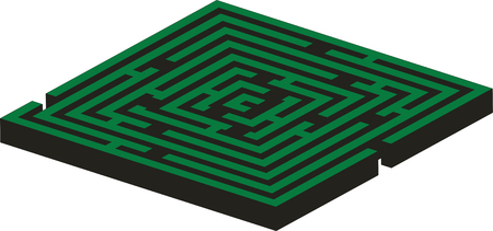 Maze 02 in green color Vector