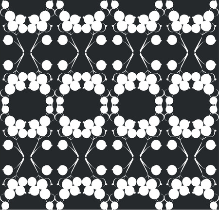 ornament berry in black 01 Vector