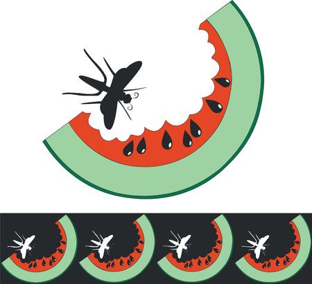 Vector.Watermelon in color 01 Stock Vector - 5353782