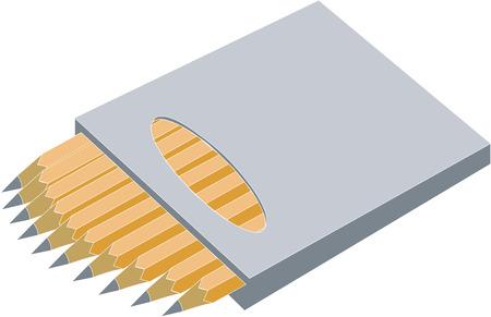 Pen set in color 2 Vector