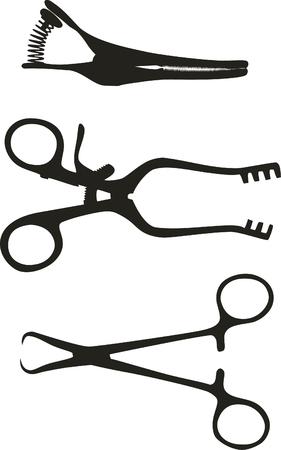 Medical tool black 01 Stock Vector - 5353796