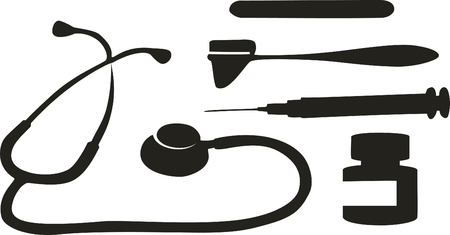 Medical tool black 02 Stock Vector - 5353799