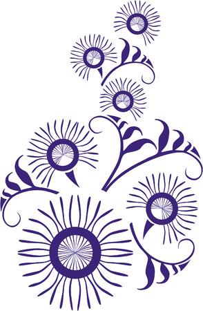 ベクトル。22 の色の飾り花