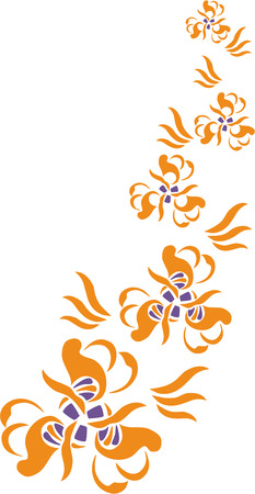 Vector. Ornament flower in color  20 Stock Vector - 5484888