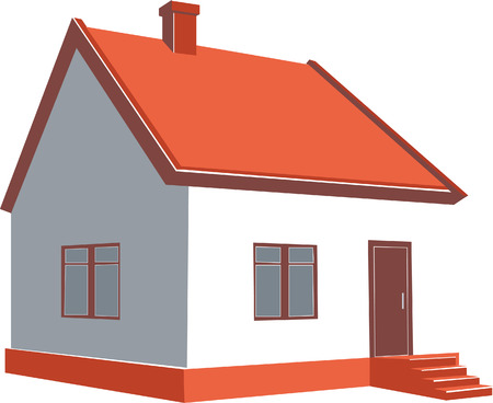 3d home in color 01 Stock Vector - 5489187