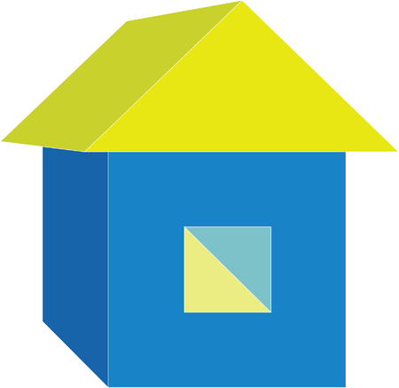 3d home in color 02 Vector