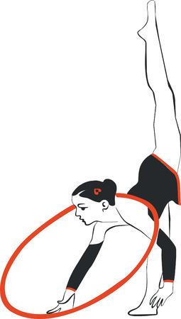 Vector. Gymnast in color 02 Vector