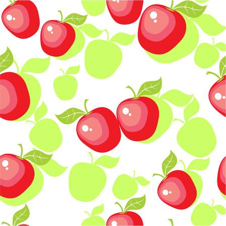 Vector. Seamless ornamento con Apple nel colore 25 Vettoriali