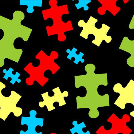 Vector. Puzzle ornamento Seamless a colori 33
