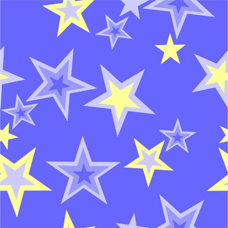 ベクトル。カラー 40 でシームレスな星の飾り  イラスト・ベクター素材