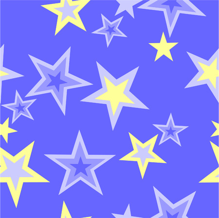 Vector. Seamless star ornament  in color 40