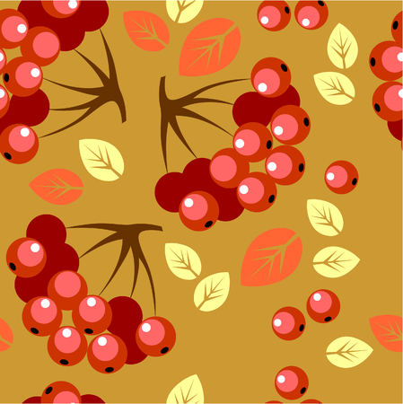 Vector. Seamless berry ornament  in color 50 Vector